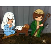 067-MD - Presépio  Kids Colorido Médio - Natividade PR-022-DN Med 1,00 x 2,00 Metros