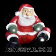 Papai Noel Gigante Sentado em Fibra de Vidro Altura 3,00 Metros x Largura 2,50 Metros e Profundidade 2,50 Metros