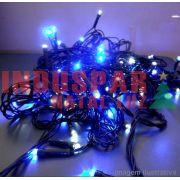 N21-8F/06VD - Pisca Pisca 100 Led Azul Multi Funções Fio Verde 10 mts - 1006 / 1506
