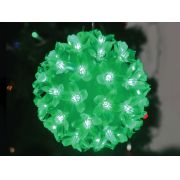 Pisca - Pisca  50 LEDS Bola Verde com 11x11CM 220V (PISCA 4 FUNÇÕES) - REF 1824