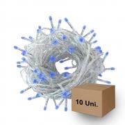 Pisca Pisca Led | Azul | Fio transparente | 10 Unidades
