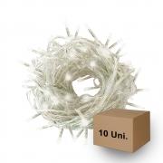 Pisca Pisca Led | Branco Frio | Fio transparente | 10 Unidades