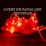 Pisca  - Pisca Vermelho 100 LEDs 8 Funções - Fio Vermelho