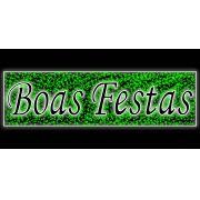 PO-028 - Decoração Metálica Iluminada Led - Painel Boas Festas Cintilante - MED 1,30 x 4,50 mts