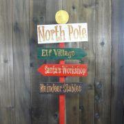 044-MD - Decoração Color Mdf Poste Direcional Polo Norte - Tam. 1,60  x 0,80 Metros
