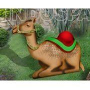 Ref: 450 - Presépio  Elegance Colorido Médio - Camelo - Medidas 0,78 mt x 0,98 mt
