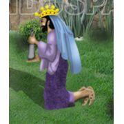 Ref: 455 - Presépio  Elegance Colorido Médio - Rei Mago Baltasar - Medidas 0,72 mt x 0,50 mt