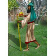 Ref: 457 - Presépio  Elegance Colorido Médio - Rei Mago Melchior - Medidas 0,96 mt x 0,56 mt