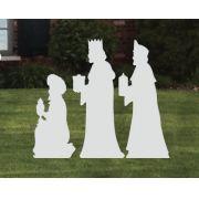 Ref: 200 489 - Presépio  Elegance Branco Médio - Kit 3 Reis Magos