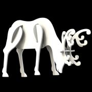 Ref: 008-MD - Rena Gigante 3D Branca Cabeça Baixa - Medidas 1,80 x 1,20 Metros