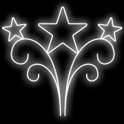 FI-024 - Ornato Star 04 Decoração Natal Multiuso  - Tam 1,50 X 1,35 Metros