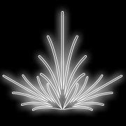 051-FA - Decoração Metálica Iluminada Led - Efeito de Jardim -Tam. 2,10 x 2,00 Metros