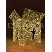 146-FA - Caixa de Presente Gigante Decoração - Tam 3,50 x 4,50 metros