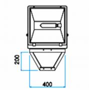 SC-01  - Suporte Cruzeta para 1 Refletor em Poste