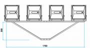SC-04  - Suporte Cruzeta para 4 Refletores em Poste