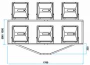 SC-06  - Suporte Cruzeta para 6 Refletores em Poste