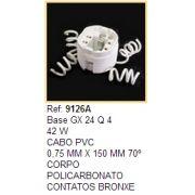 Soquete para Lâmpada Fluorescente Circular / PL 18W e 26W 4 fios Ref 9126A
