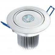 Spot de Embutir Super LED 3W Redondo Bivolt