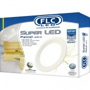 Super LED Painel Redondo 18W - Bivolt 4000K FLC