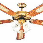 Ventilador de Teto 5 Pás - Reflex - Lustre 4 Tulipas de Vidro