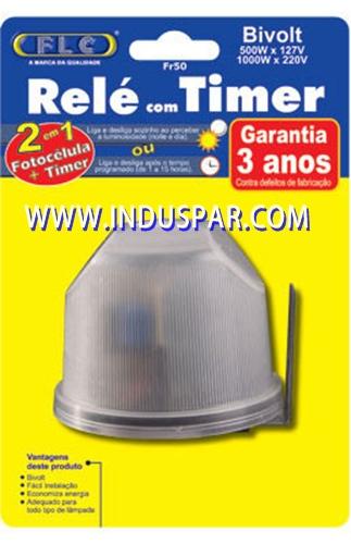 Rele Fotocelula Externo - FLC - FR 50 - com Timer