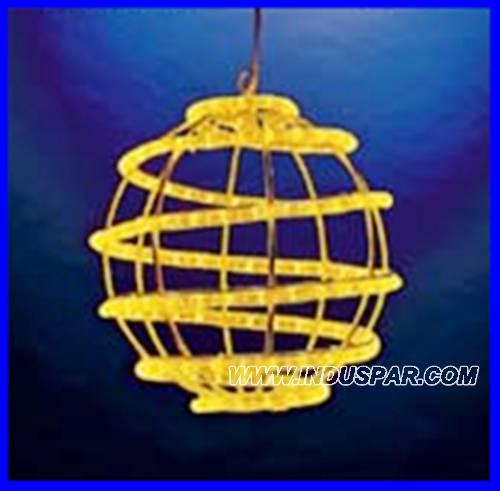 Bola de Natal  30 cm Gigante Led Esfera Espiral