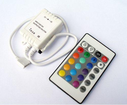 Controle Fita de Led RGB infra-vermellho 72w 24teclas