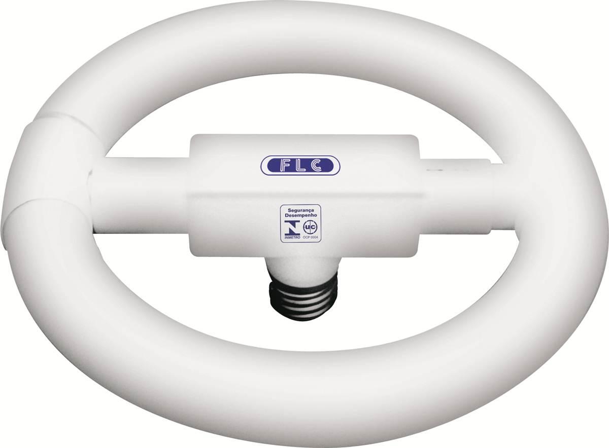 Lâmpada Fluorescente Circular 22W T8 Kit com Reator E27