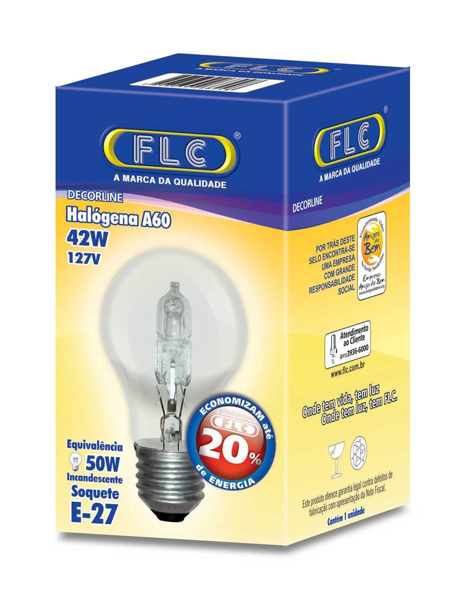 LL01T - Lâmpada Halogena Bulbo A60 42W E27