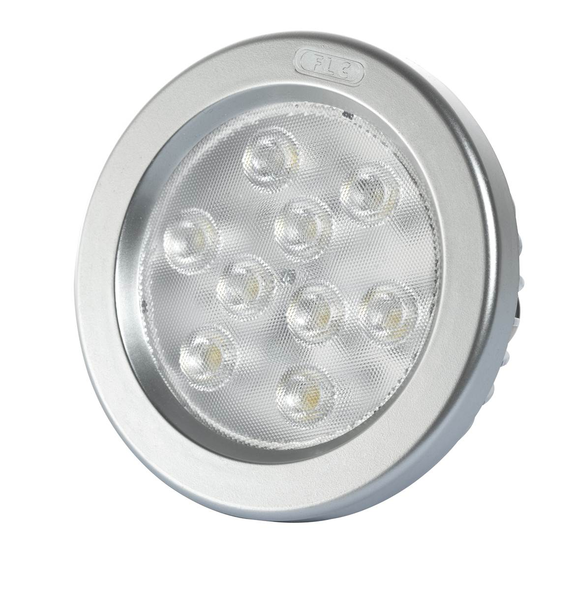 Lâmpada  AR 111 LED   8W 3000K 12V BASE G53 FLC