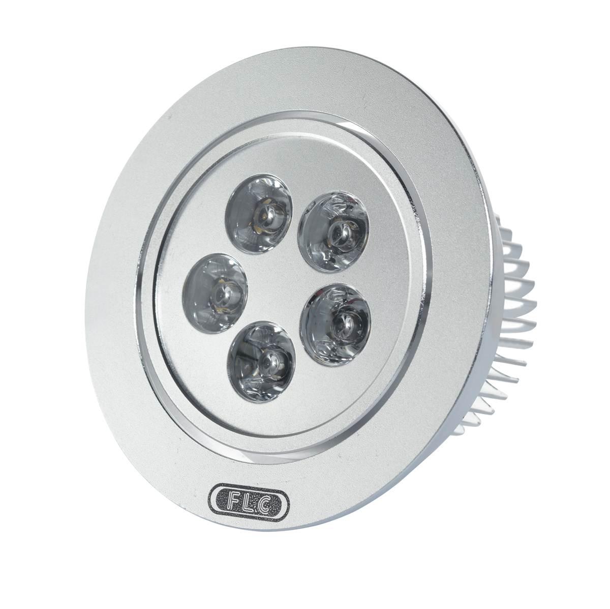 Luminária Super LED - DOWNLIGHT REDONDO - 5 Super LEDS 10W
