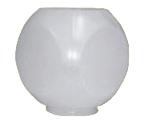 Globo 32 cm Dado para Poste com Colarinho B-15 - Polietileno Leitoso - G-IG08