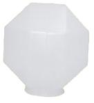 Globo 32cm Prismático para Poste B-15 - Polietileno Leitoso