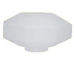 R07 - Globo 40cm Diamante para Poste B-15 - Polietileno Leitoso