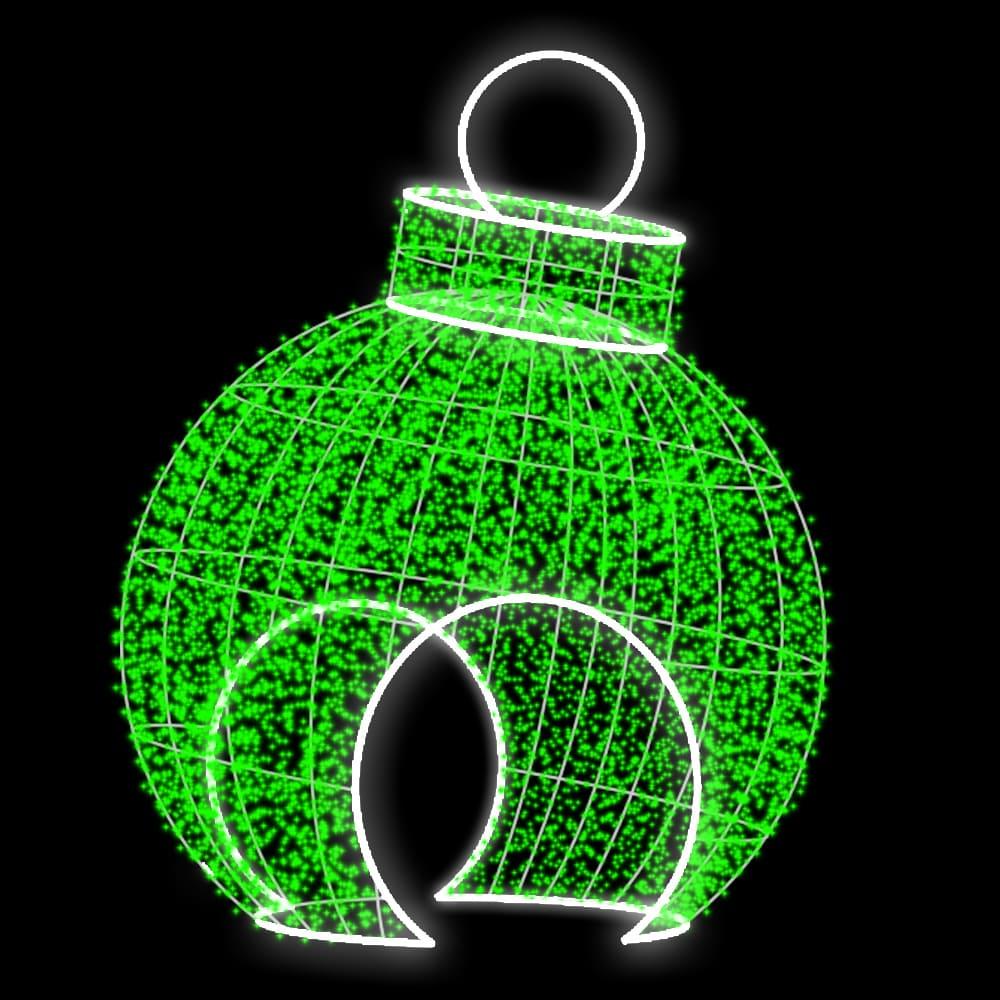 3D139 - Bola de Natal Gigante Charm Tunel
