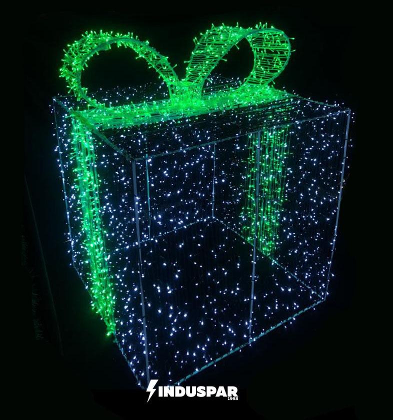 3D147 - Caixa de Presente com laço 3D