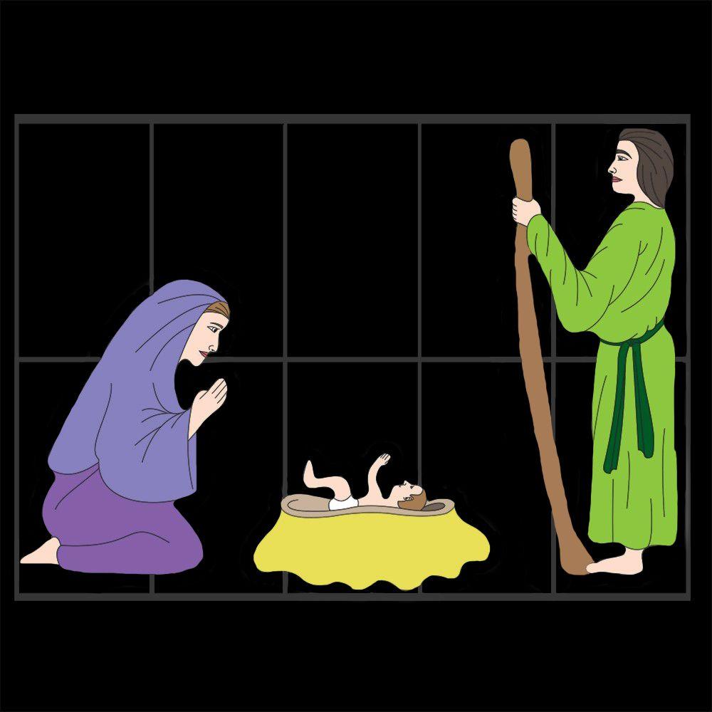 Sagrada Familia Decoração de Natal Dia e Noite - Tam 2,40 x 1,70 mts - MD-434
