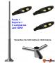 Poste de Iluminação Led Reto - 3 Luminárias Pétala 100W (3 à 12 Metros)