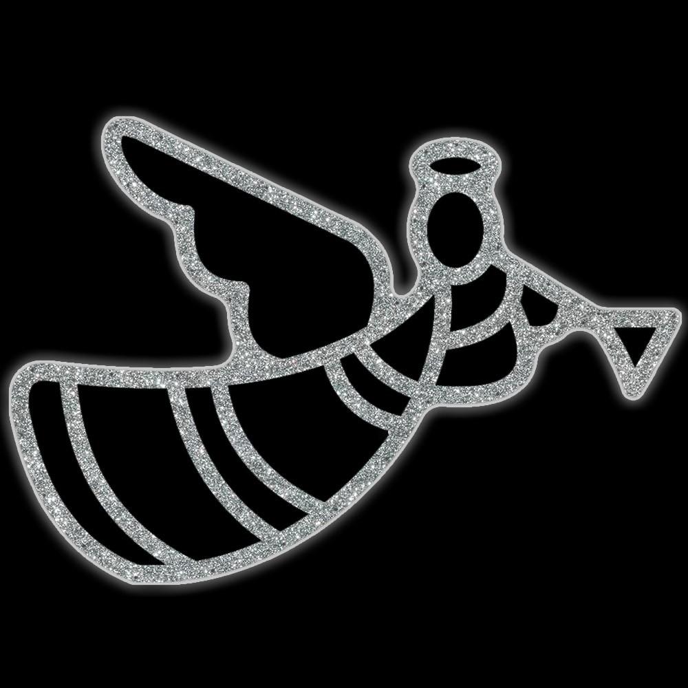 Ref: 021-MD - Anjo com corneta Colorida - Com ou Sem Iluminação