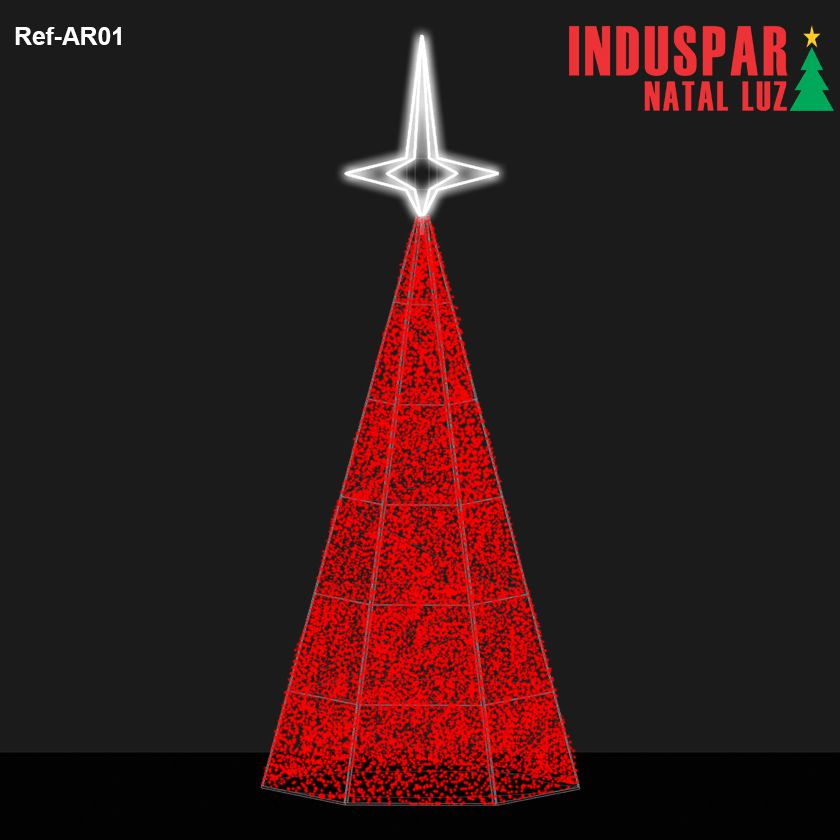 AR-001 - Arvore de Natal Gigante Led Luzes Cintilantes - (Veja tamanhos) 220V