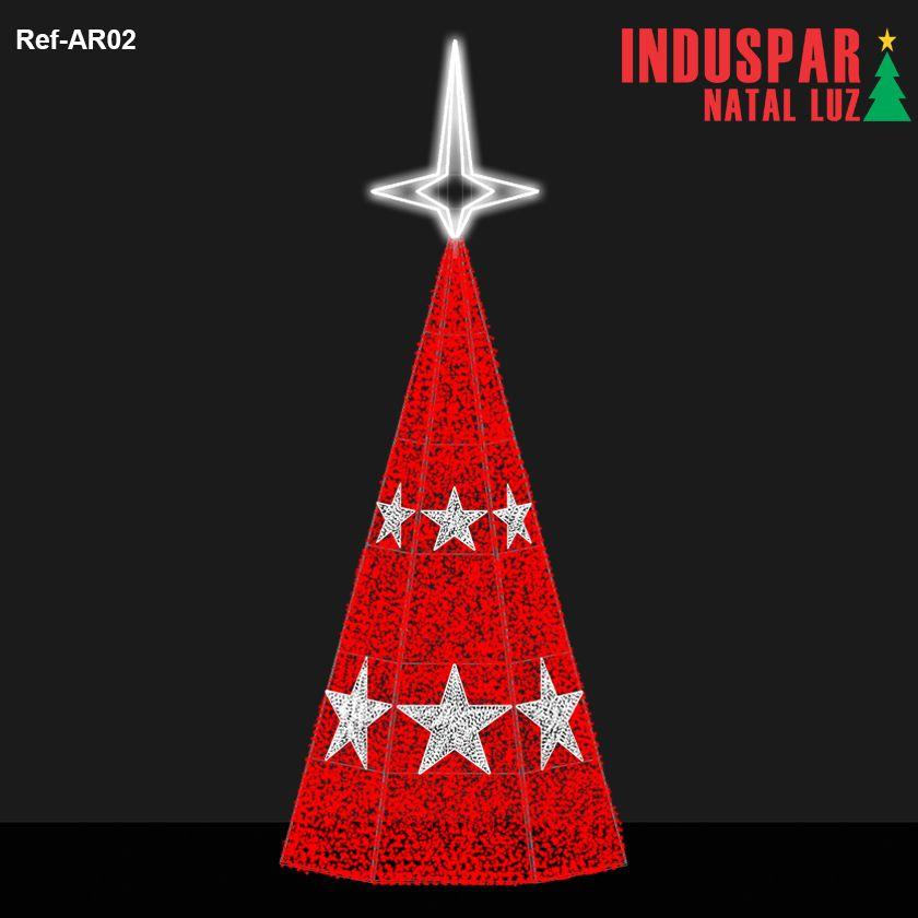 AR-002 - Arvore de Natal Gigante Led Cintilante e Estrelas - (Veja tamanhos) 220V