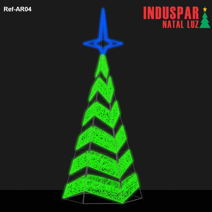 AR-004 - Arvore de Natal Gigante Led Cintilante Ondas - (Veja tamanhos) 220V