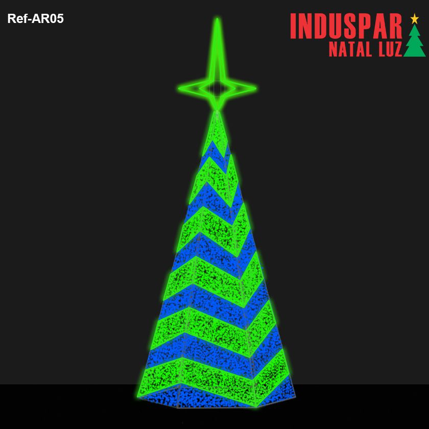 AR-005 - Arvore de Natal Gigante Led Cintilante Ondas Dupla - (Veja tamanhos) 220V