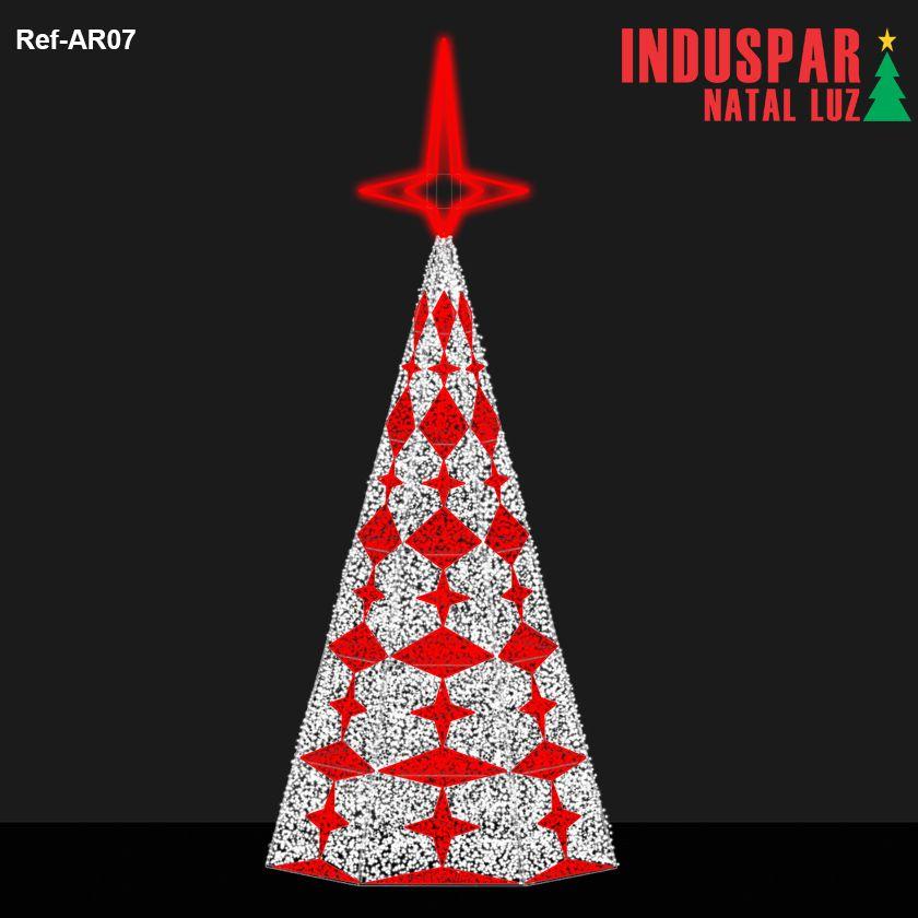 AR-007 - Arvore de Natal Gigante Led Cintilante Geometrica - (Veja tamanhos) 220V