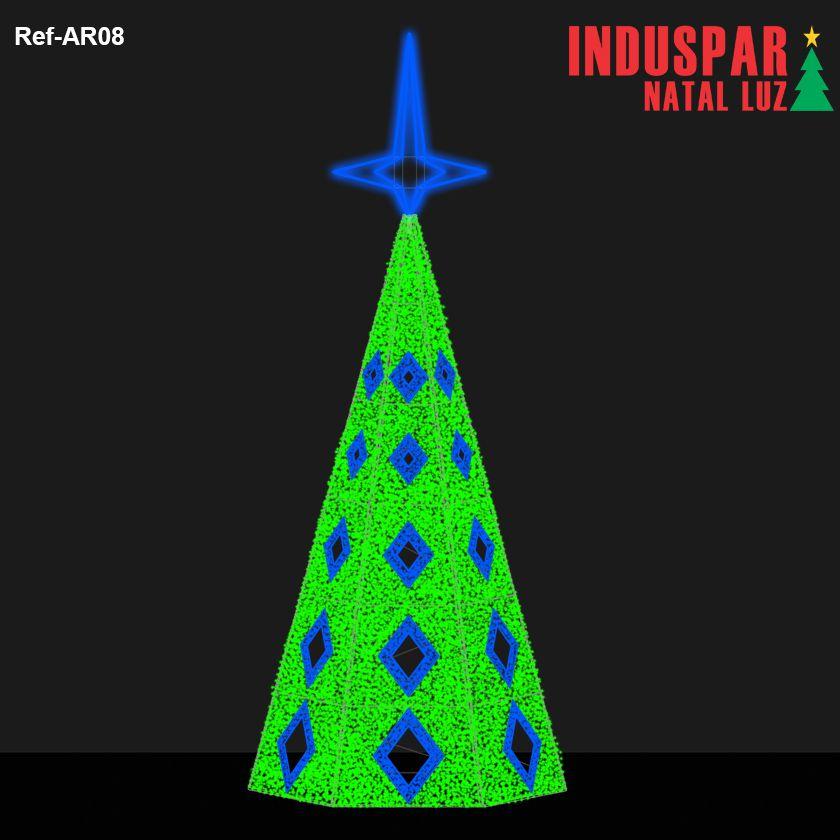 AR-008 - Arvore de Natal Gigante Led Cintilante Brilho - (Veja tamanhos) 220V
