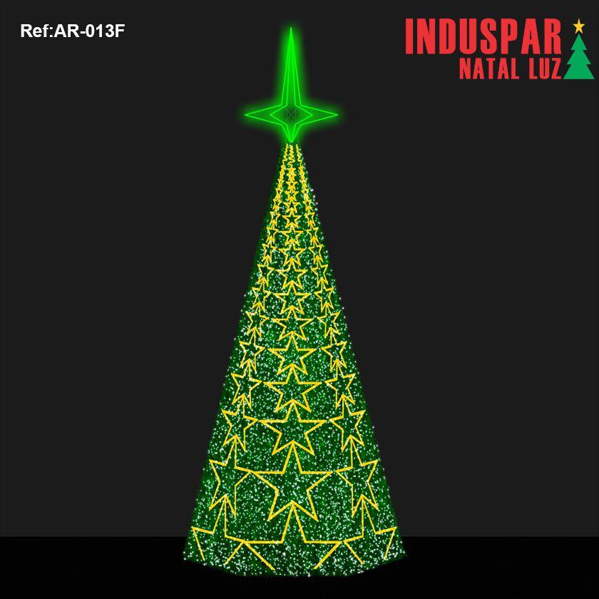 AR-013F - Arvore de Natal Gigante Led - Estrelada com Festão - (Veja tamanhos) 220V