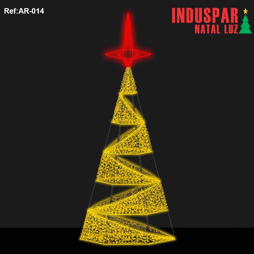 AR-014 - Arvore de Natal Gigante Led Cintilante Espiral - (Veja tamanhos) 220V