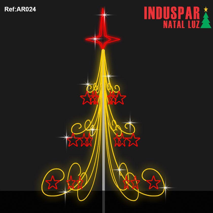 AR-024 - Arvore de Natal Show Gigante Led- Roma  Altura 5 à 8 Mts