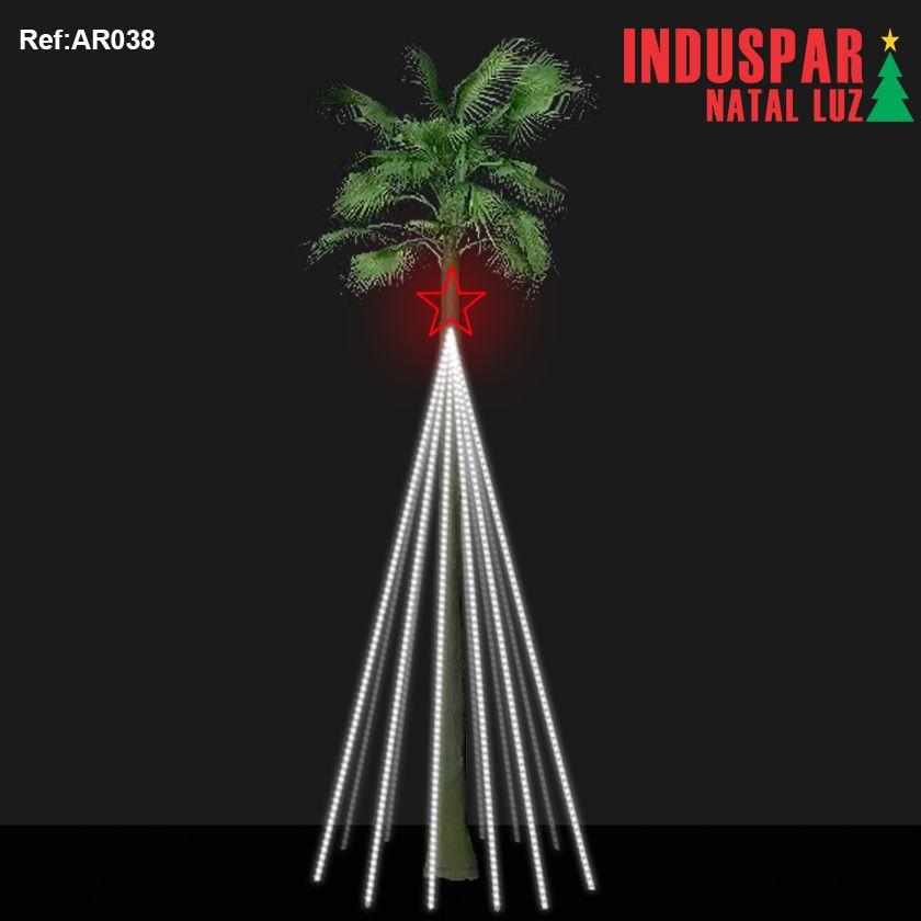 AR-038 - Arvore de Natal Gigante Led -  Kit Palmeira ou Fachada de Prédios - (Alturas de 3,0 a 12,0 metros)