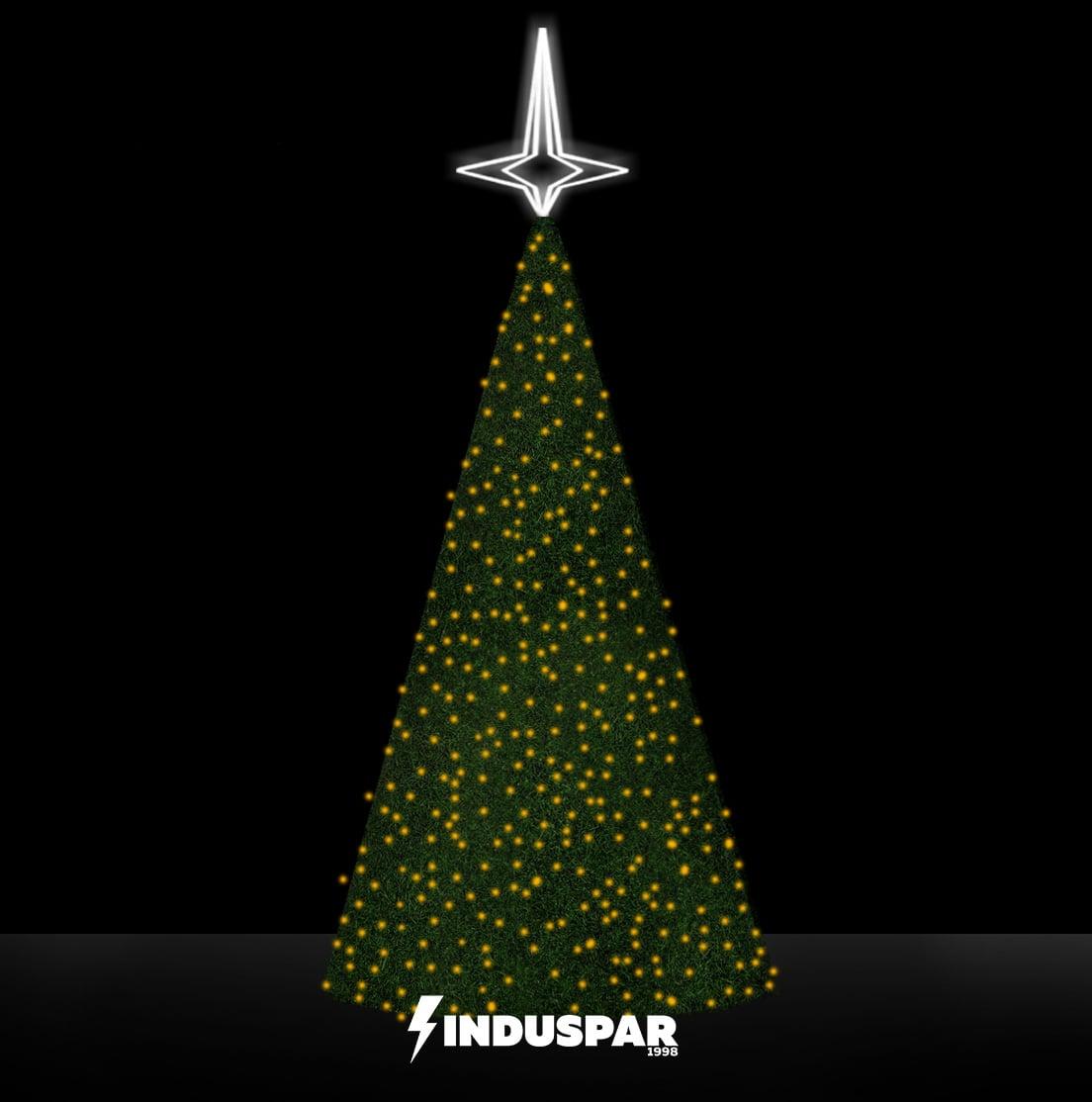 AR-040 - Estrutura Metálica de Árvore de Natal Modular com Revestimento